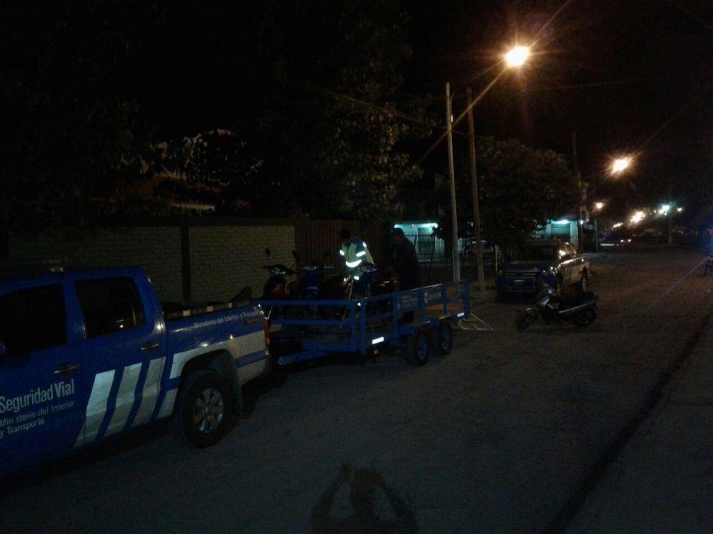 Fin del operativo en Monterrico