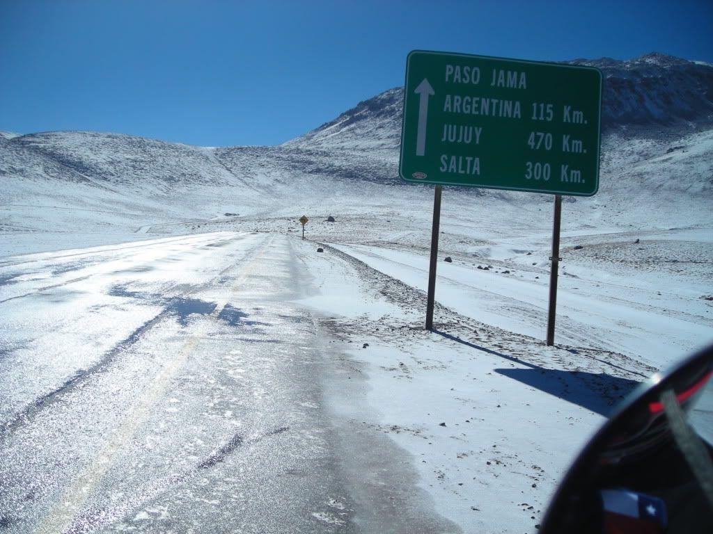 Paso de Jama del lado chileno