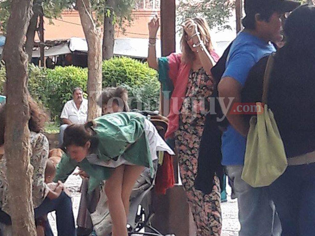 Dolores Barreiro en Tilcara con su famil