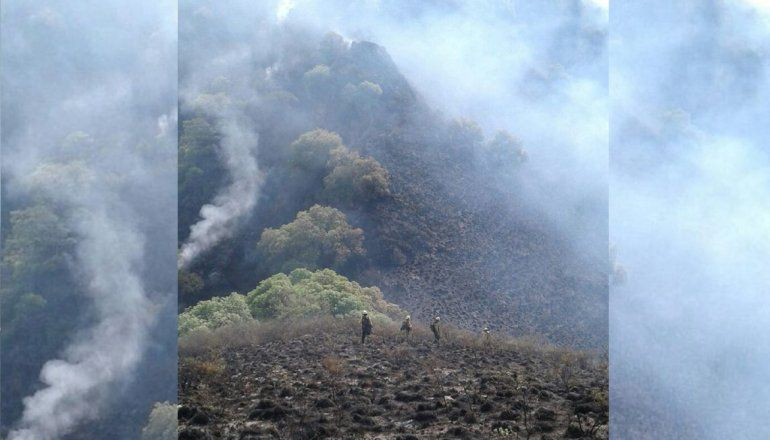 Brigadistas jujeños colaboran en un incendio forestal en Catamarca
