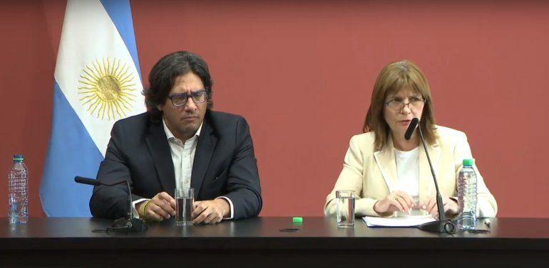 Patricia Bullrich: Llevamos adelante una acción legal y legítima, enmarcada en la ley