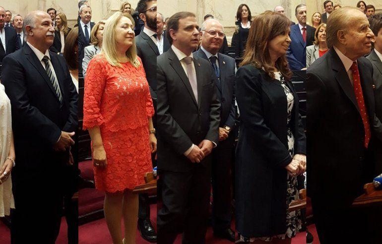 Juraron los nuevos senadores, entre ellos Fiad, Giacoppo, Snopek, Cristina y Menem