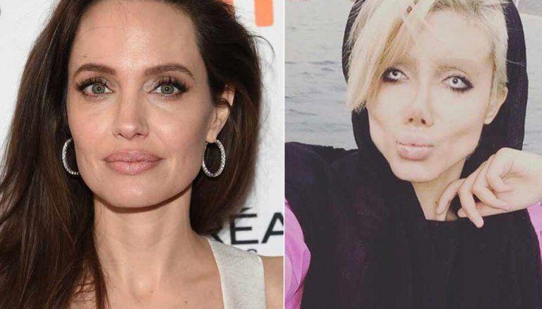 Tendencia en Twitter: Una joven se operó 50 veces para parecerse a Angelina Jolie