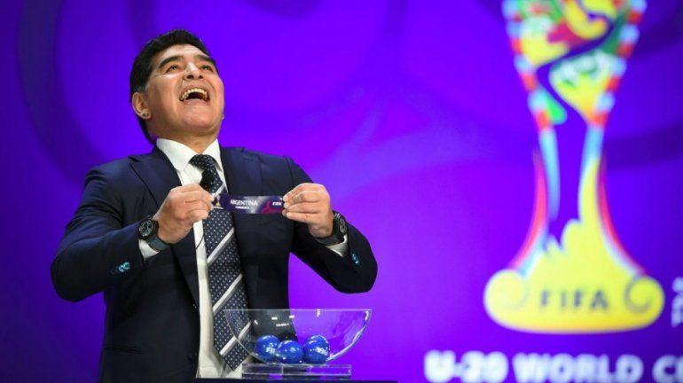 Maradona no estuvo en el ensayo del sorteo del Mundial