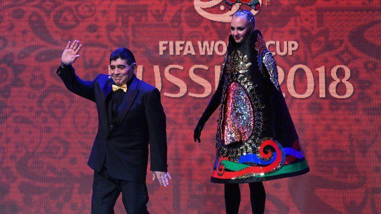 Diego Maradona presente