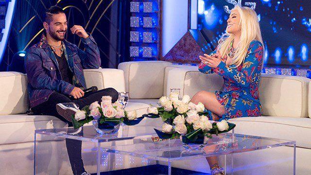 Maluma en el sillón de la diva Susana Giménez