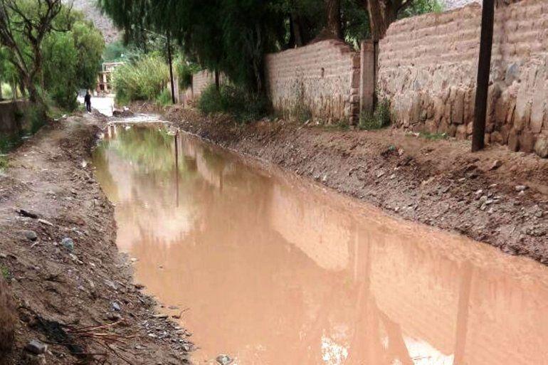 Calles de Tilcara inundadas