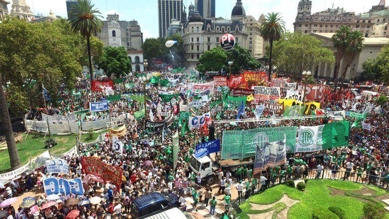 Con paros y movilizaciones se desarrollo hoy la jornada nacional de lucha