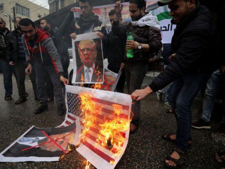 El anuncio de Trump sobre Jerusalén disparó la furia palestina: al menos 80 heridos