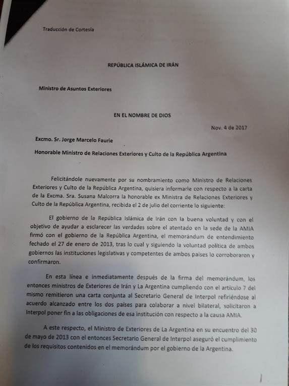 Irán asegura que el pacto con CFK buscaba poner fin a las alertas rojas de Interpol
