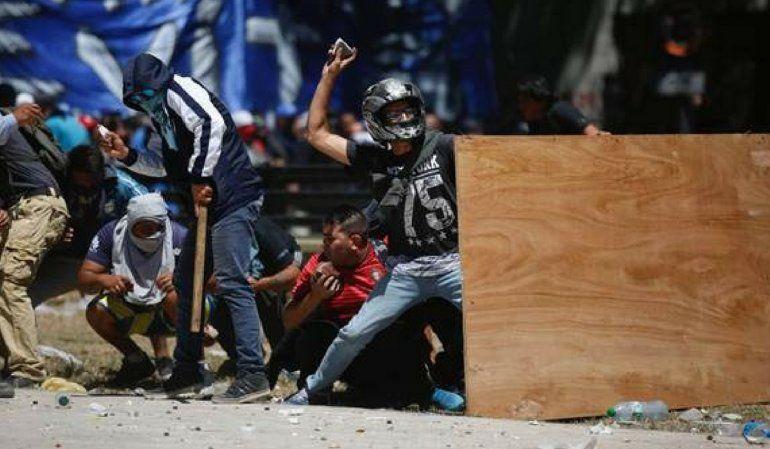 Incidentes durante el tratamiento de la reforma previcional. Foto: LA NACION / Emiliano Lasalvia