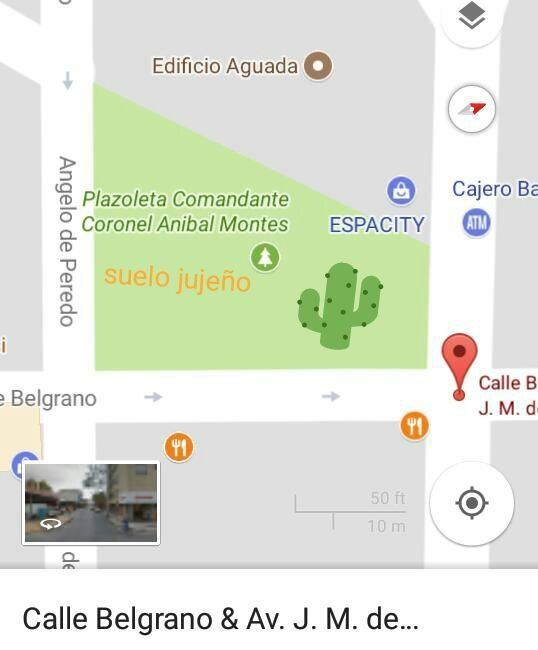 La ubicación exacta de la plazoleta