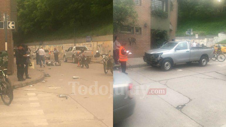 Accidente entre una camioneta y una moto en Patricias Argentinas