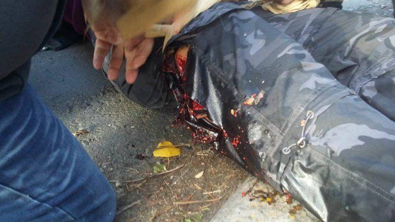 Santa Cruz: incidentes entre manifestantes y la Policía frente a la Legislatura provincial