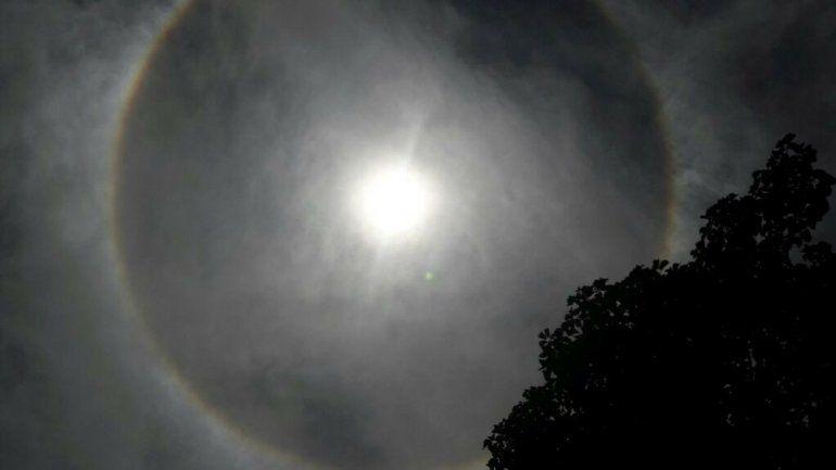 Un fenómeno alrededor del sol sorprende a los jujeños