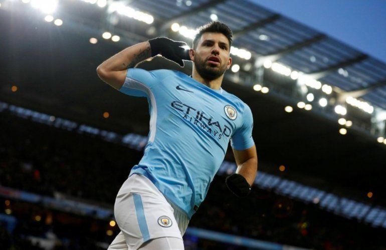 El Kun Agüero anotó dos goles en la victoria de Manchester City por la FA cup