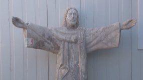El Cristo de Volcán: la imagen que sobrevivió a la catástrofe natural en Volcán