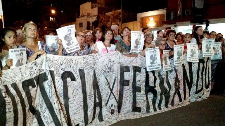 Nahir Galarza: familiares y amigos de Fernando Pastorizzo se movilizaron a un mes del crimen