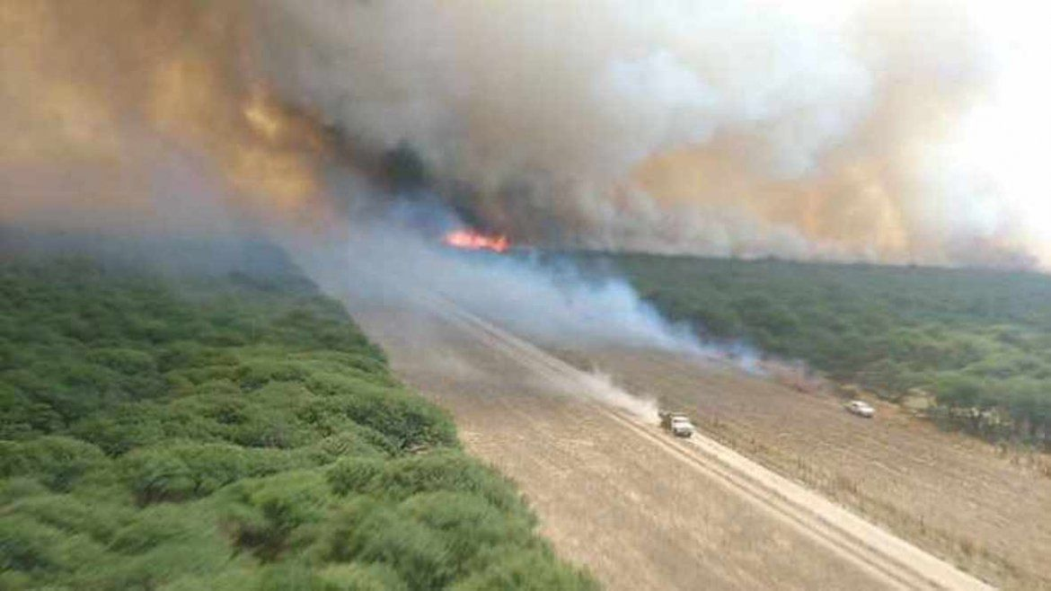 Terrible incendio en La Pampa