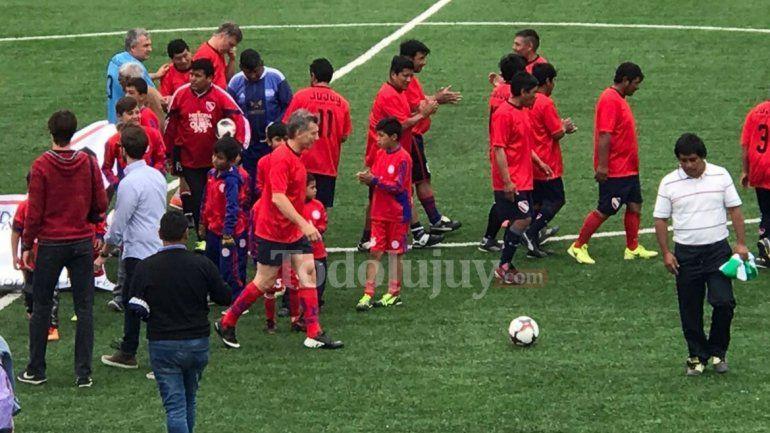 Macri después del partido en Humahuaca: Un sueño jugar con Lobo y con Valencia