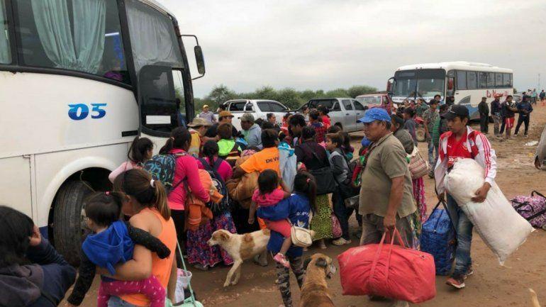 Evacuados - Ph: La Gaceta de Salta