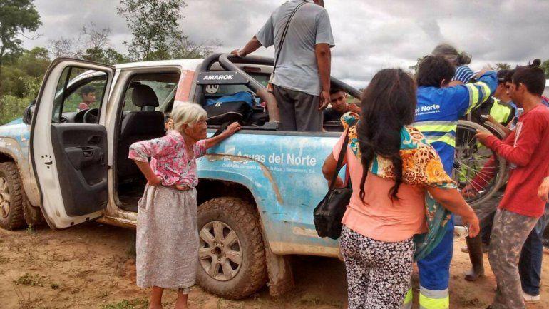 Evacuados - Ph: La Gaceta Salta