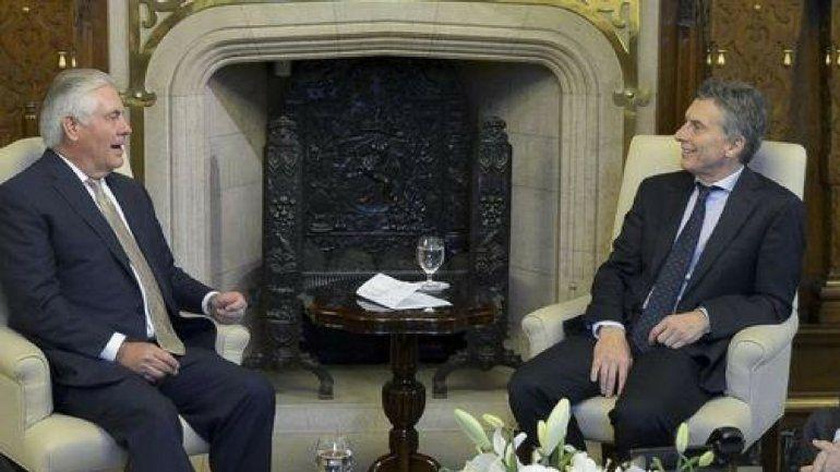 Macri recibirá al secretario de Estado norteamericano