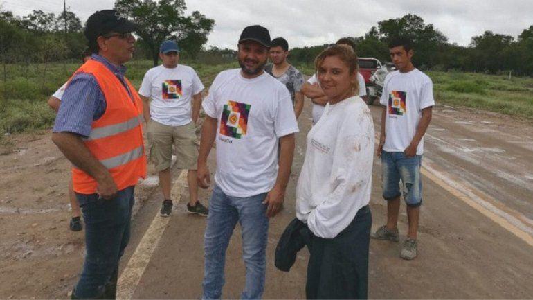 Jorge Rojas no le dio la espalda al temporal de Salta: suspendió los shows y trabaja como voluntario
