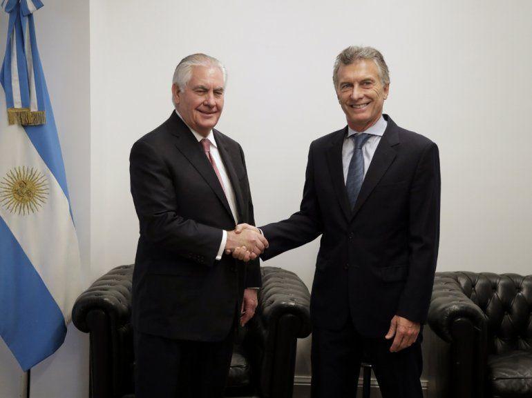 Macri con Tillerson