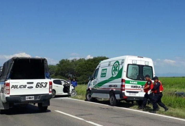 Ruta 66: tras un fuerte choque frontal un hombre murió y 4 personas resultaron heridas