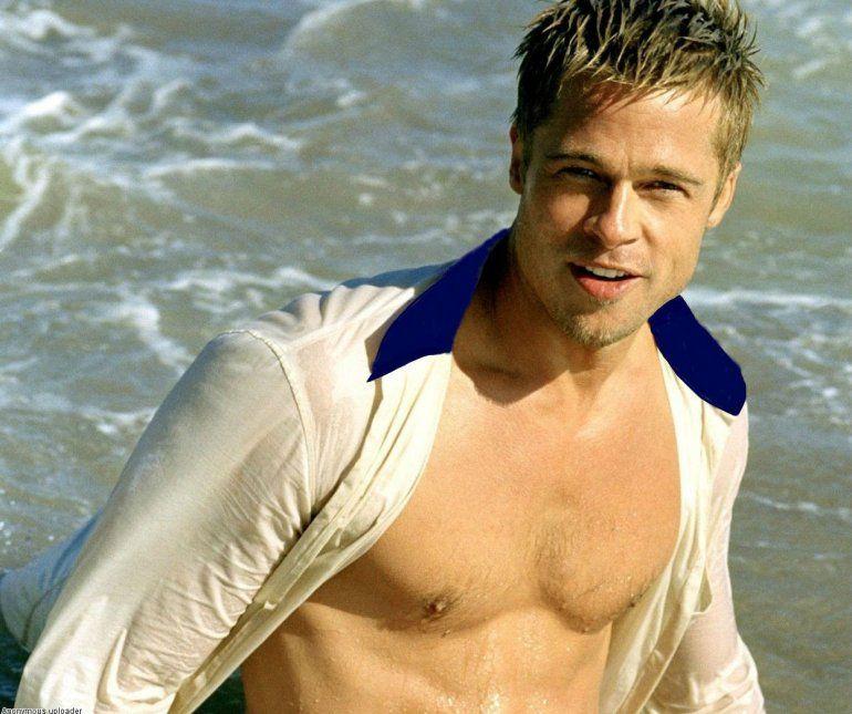 Brad Pitt quedó flechado con la belleza de una joven actriz