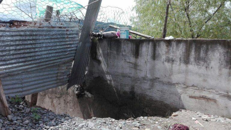 Peligran casas en Lozano