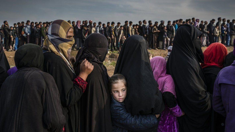 El fotógrafo británico Ivor Prickett para el New York Times tomó el 15 de marzo de 2017 a civiles que quedaron en el este de Mosul
