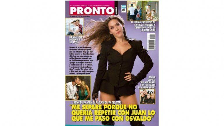 Jimena Barón enfureció por la tapa de una revista y una periodista salió a cruzarla