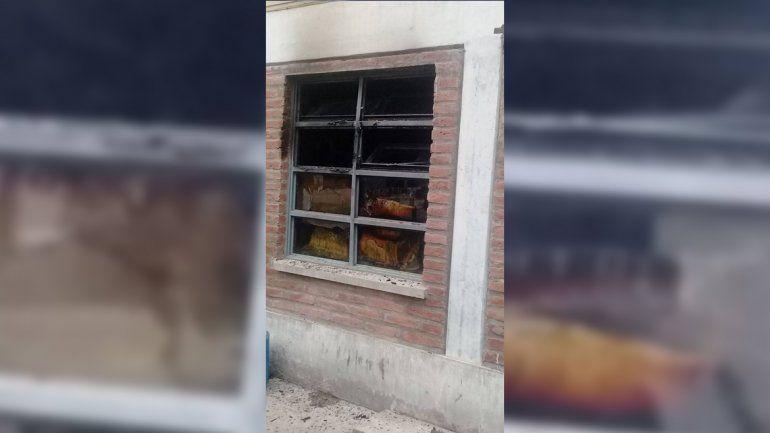 Incendio en Polivalente de San Pedro