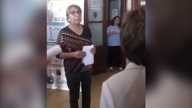 Yolanda Canchi protagonizó un violento cruce en el hospital San Roque