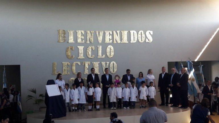 El presidente Mauricio Macri dijo que nada sería posible sin los docentes