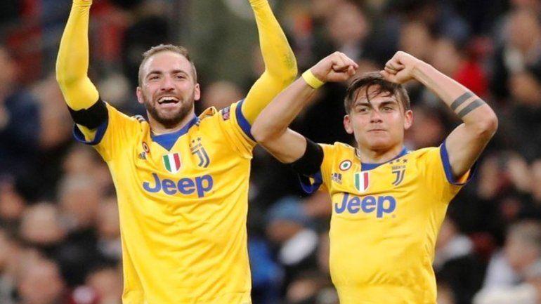 Goles argentinos para el triunfo de la Juventus frente al Tottenham