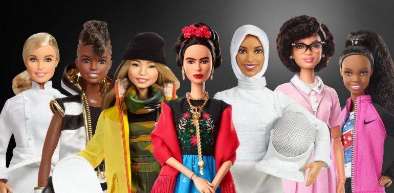 8M: Mattel lanzó Barbies de mujeres que inspiran con celebridades mundiales
