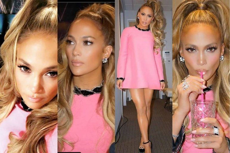 El vestido rosa que convirtió a JLo en una Barbie