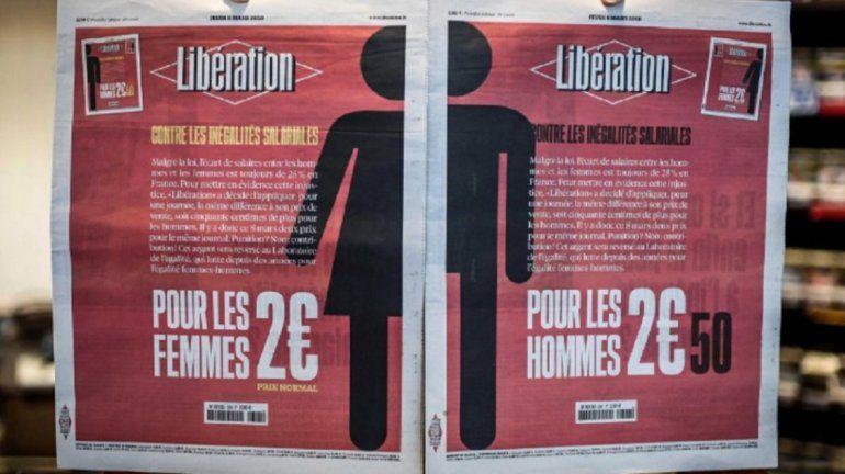 Diario francés Libération: decidió hoy subir 50 centavos de euro para los hombres