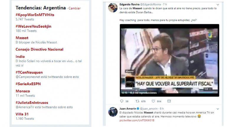 Explotan las redes sociales: después del momento incomodo de Massot, fue trending topic en Twitter