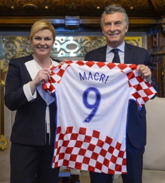Macri recibió a su par de Croacia en Casa de Gobierno