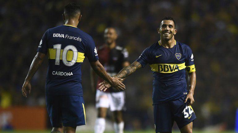 Alerta en Boca: se confirmaron las lesiones de Carlos Tevez y Edwin Cardona
