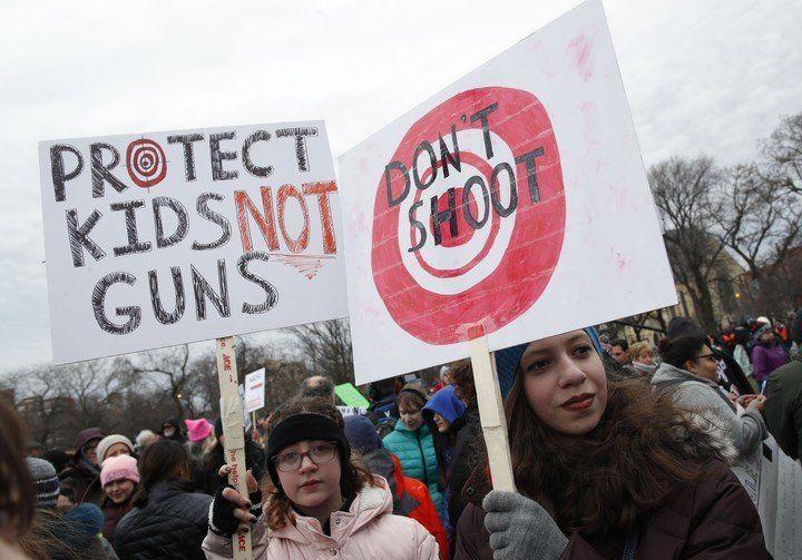Un millón de estudiantes reclamó en las calles de Estados Unidos por el control de las armas