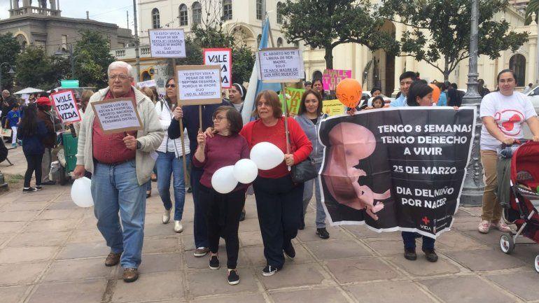 Mirá en vivo la marcha contra la legalización del aborto en Jujuy