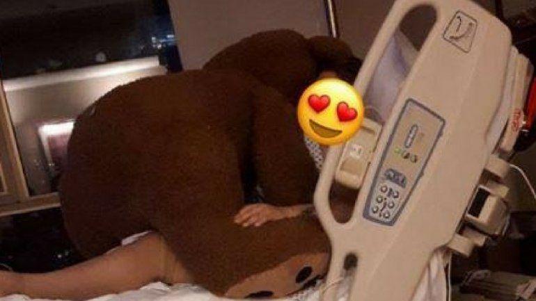 Morena Rial recibió un regalo gigante de su novio en la clínica