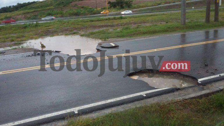 Al momento queda un solo corte de ruta por las lluvias en la provincia