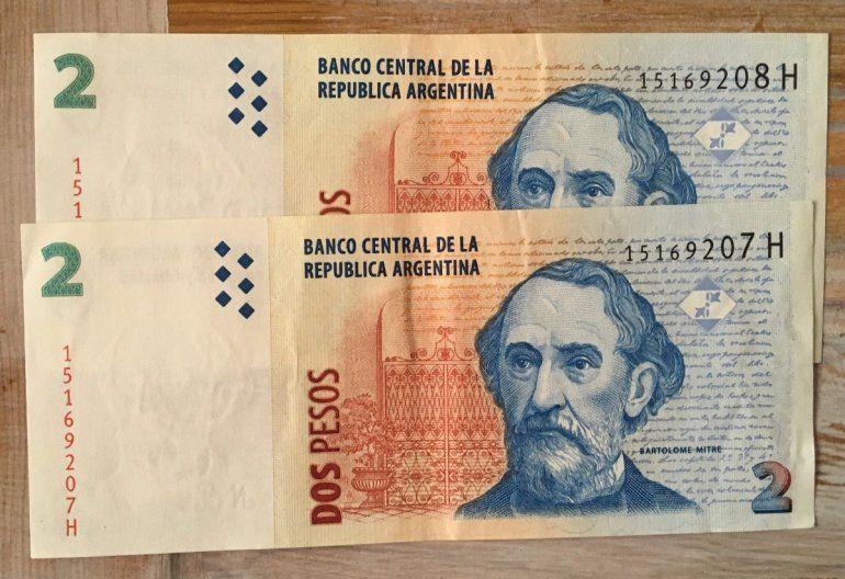 Multas de hasta $ 5 millones para comercios que rechacen billetes de dos pesos
