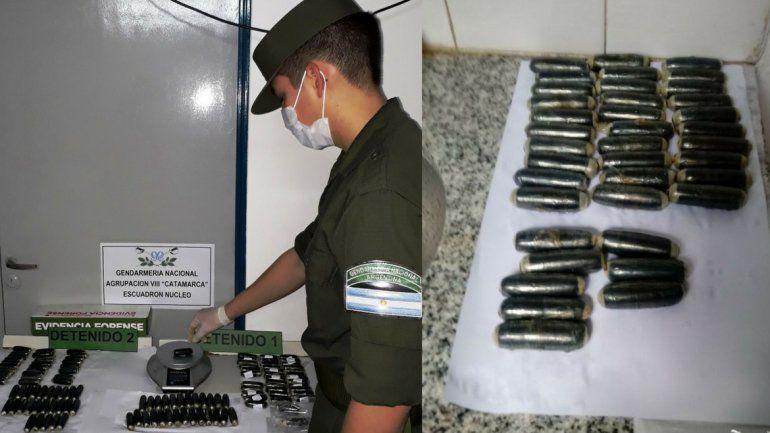 Desde Salta a Mendoza; detuvieron a dos pasajeros que habían ingerido 130 cápsulas con cocaína